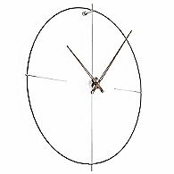Bilbao Wall Clock (Black Fiberglass/Walnut)-OPEN BOX RETURN