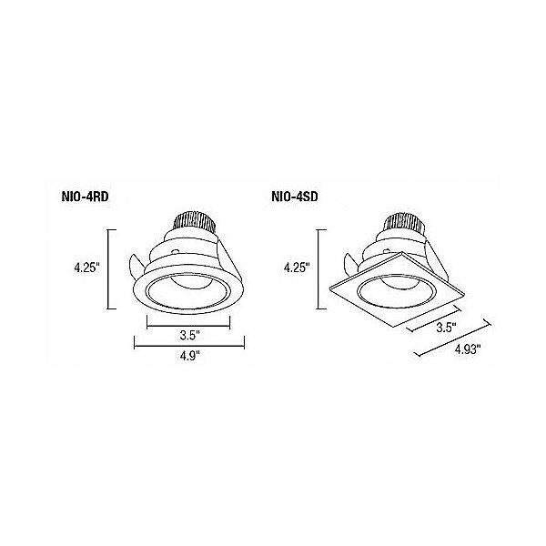 Iolite 4-Inch Deep Regressed Adjustable LED Trim