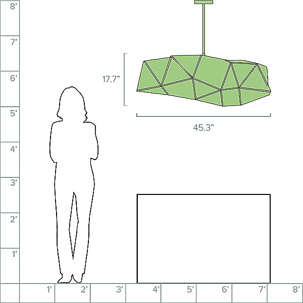 Fold Jade LED Linear Suspension Light
