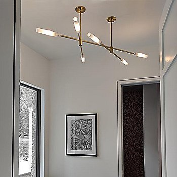 Brushed Brass finish / Round canopy / in use