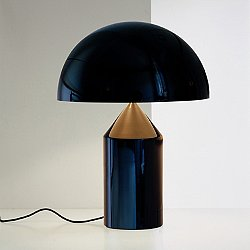 Atollo Metal Table Lamp by Oluce (Black) - OPEN BOX RETURN