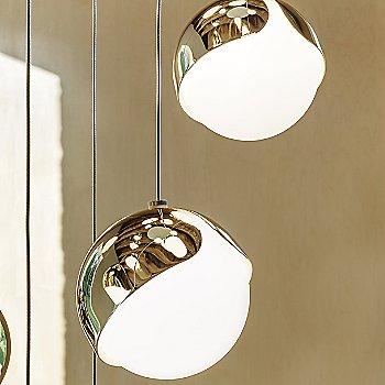 Polished Brass finish, illuminated