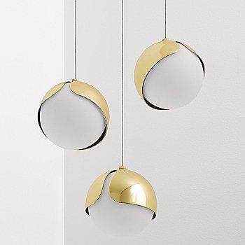 Polished Brass finish,  not illuminated