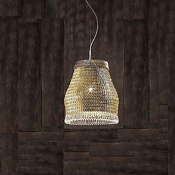Shown in Gold finish, Medium size