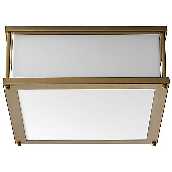 Shown unlit in Aged Brass Finish, Small size