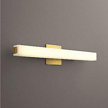Aged Brass finish / Small size, lit