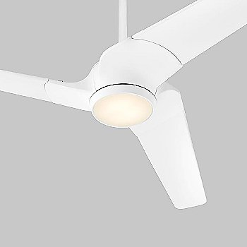 White Fan Body with White Blade finish, lit