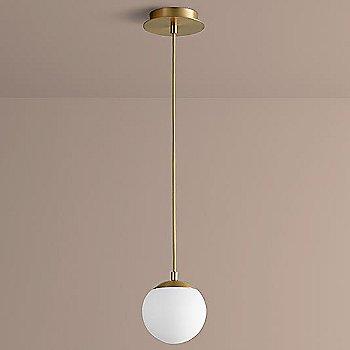 6 inch / Aged Brass finish / not illuminated