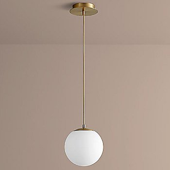 8 inch / Aged Brass finish / not illuminated