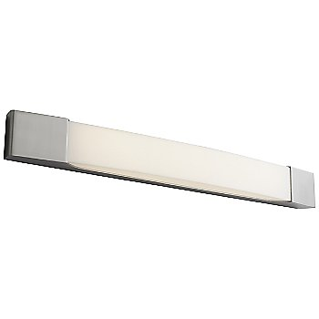 Shown lit in Satin Nickel finish, 28 Inch, lit