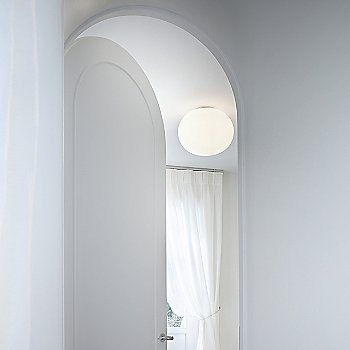 Glo-Ball C Ceiling Light / in use / Illuminated