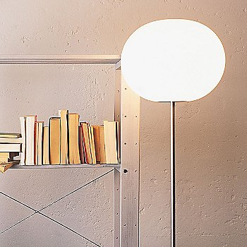 Glo-Ball F Floor Lamp / In use / Lit