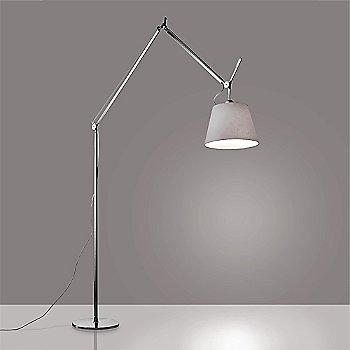 17 inch size / Pale Grey shade / Aluminum finish, illuminated