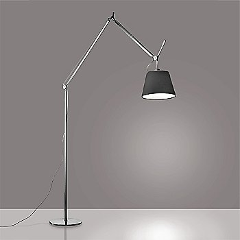 14 inch size / Pale Grey shade / Black finish, illuminated