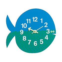 Zoo Timer -Nelson Fernando the Fish Wall Clock