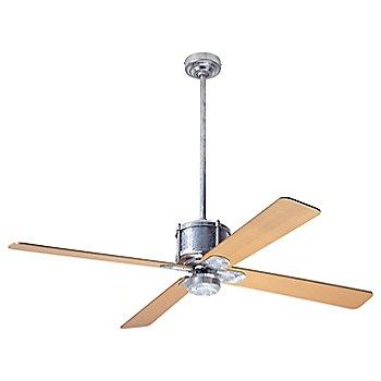 Maple fan blade finish with Galvanized fan body finish / No Light