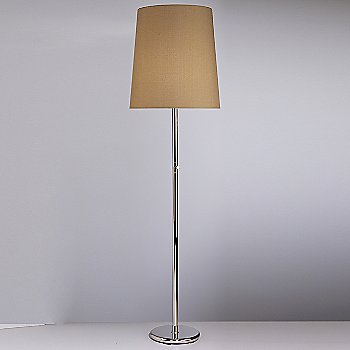 Shown in Polished Nickel with Taupe Claiborne Fabric