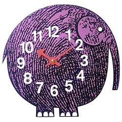 Zoo Timer - Nelson Elihu the Elephant Wall Clock