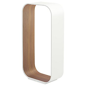 Shown in White with Walnut Veneer, Large size