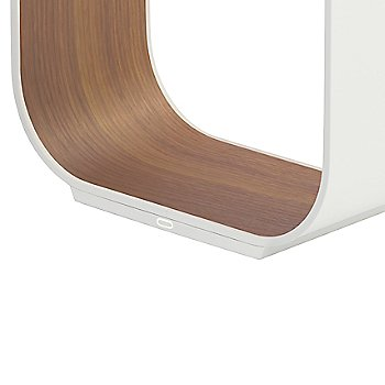 Shown in White with Walnut Veneer