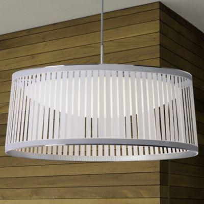drum lighting pendant wood pablo designs solis drum led pendant light ylightingcom