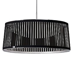 Solis Drum LED Pendant Light (Black 24 inch) - OPEN BOX RETURN