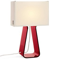 Tube Top Table Lamp  - Colors (Ruby Red/Small) - OPEN BOX