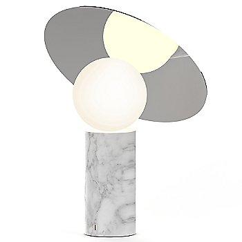 Carrara white Marble Base with Chrome shade