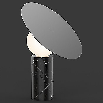 Marquina Black Marble Base with Gunmetal shade