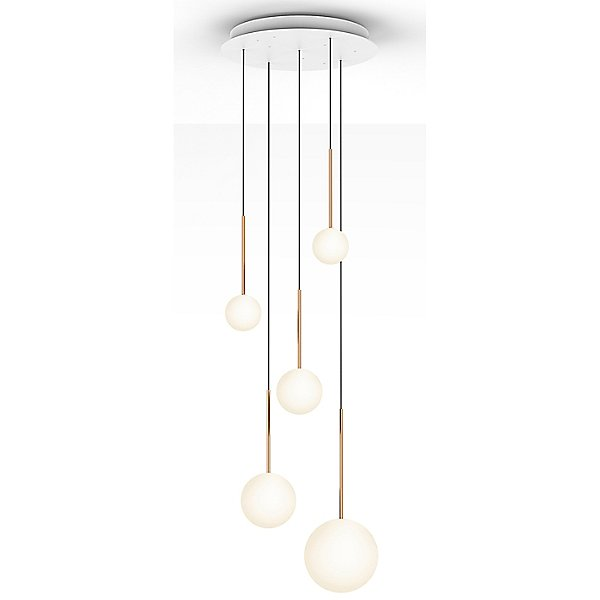 Bola Sphere LED  Multi-Light Pendant with Small Canopy