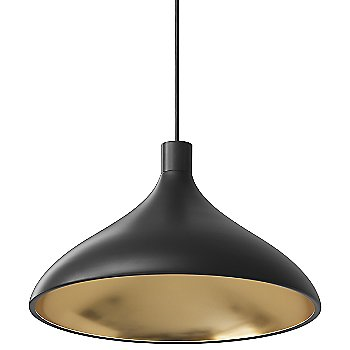 Black-with-Brass finish