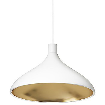 White-with-Brass finish