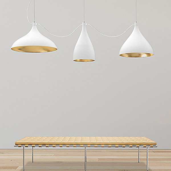 Swell String 3 Mixed Modular Linear Suspension Light