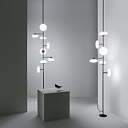 MAMI' Floor to Ceiling Lamp (Glossy Black Nickel/S)-OPEN BOX