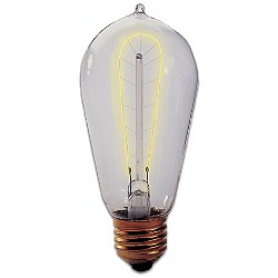 40W 120V ST18 E26 Harpin Filament Edison Bulb 2-Pack