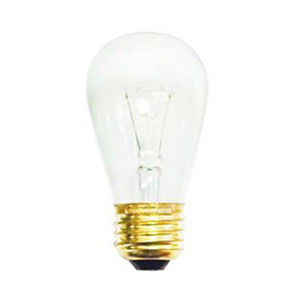 11W 130V S14 E26 Clear Bulb 4-Pack