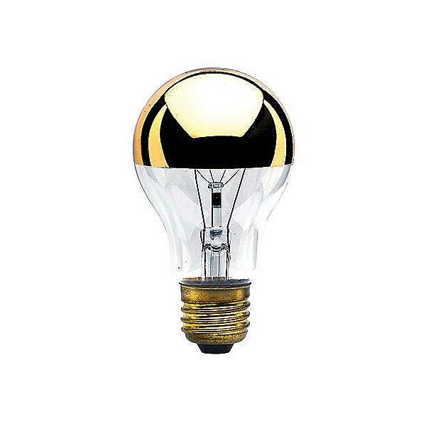 60W 120V A19 E26 Half gold Bulb 2-Pack