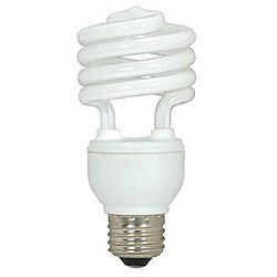 18W 120V T2 E26 Mini Spiral CFL Bulb (2-Pack)