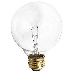40W 120V G25 E26 Clear Bulb 3-Pack