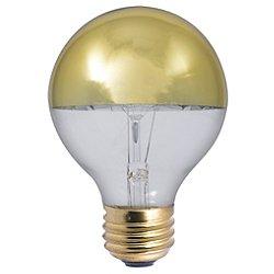 40W 120V G25 E26 Half Gold Bulb 2-Pack