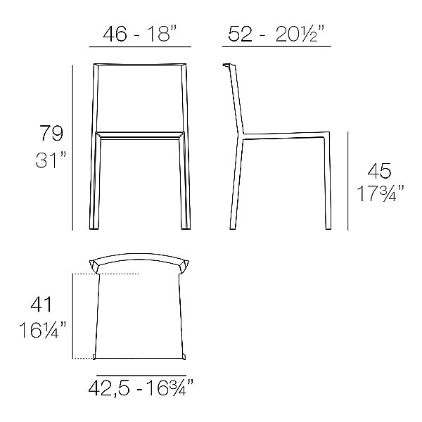 Quartz Chair Set of 4