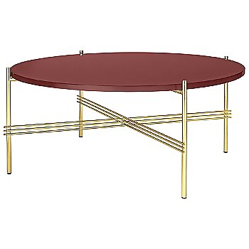 Rusty Red Glass Top finish / Brass Base finish