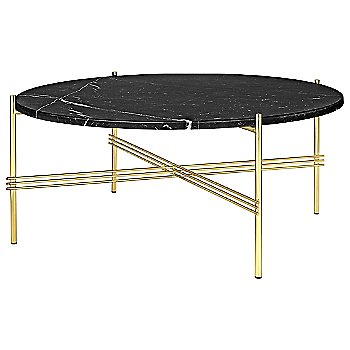Black Marquina Marble Top finish / Brass Base finish