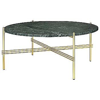 Green Guatemala Marble Top finish / Brass Base finish