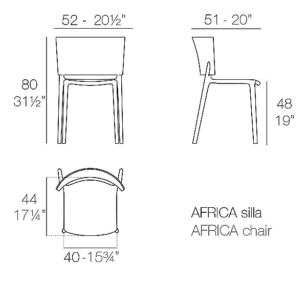 Africa Side Chair Set of 4