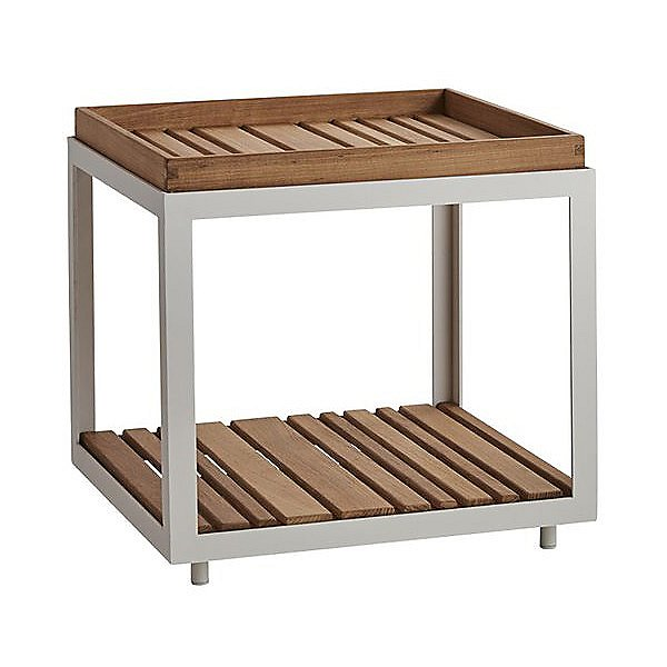 Level Side Table with Teak Top