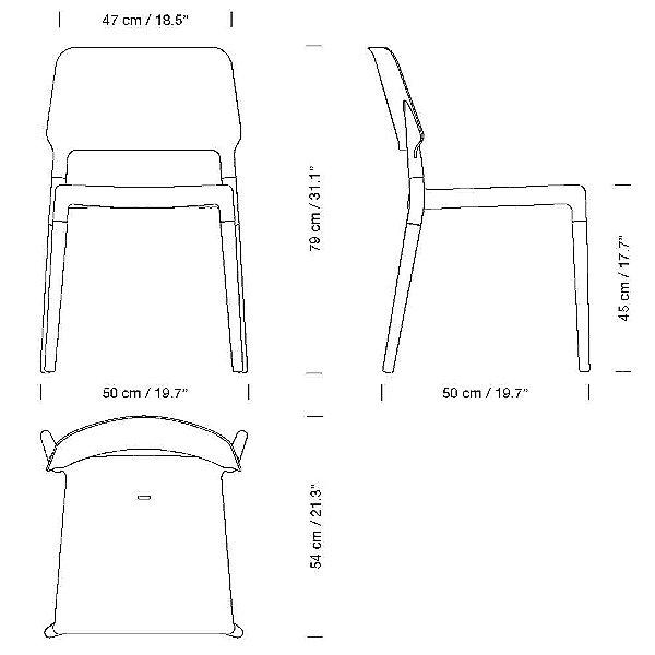 Belloch Chair - Aluminum Base Set of 4