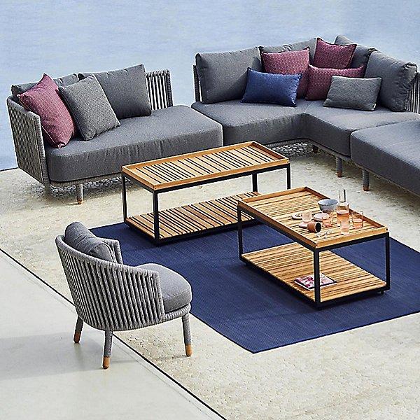 Level Rectangular Coffee Table with Teek Top