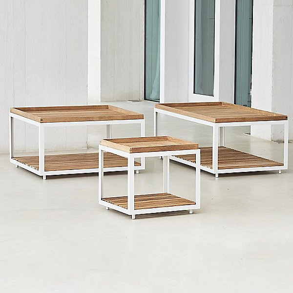 Level Square Coffee Table with Teak Top