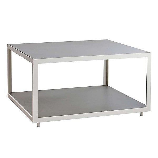 Level Square Coffee Table with Ceramic Tiles Top